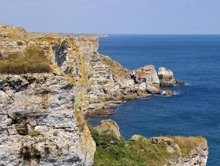 Large building land on the Bulgarian sea coast