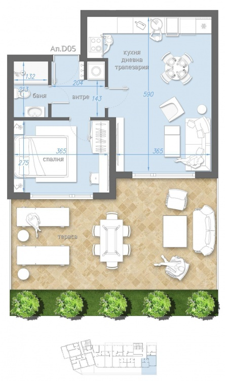 Ground floor apartment for sale in Sarafovo