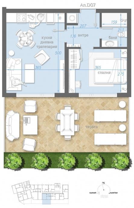 Garden apartment near beach - Bourgas
