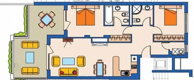 For sale exclusive 2 bedroom apartment in Kaliakria resort