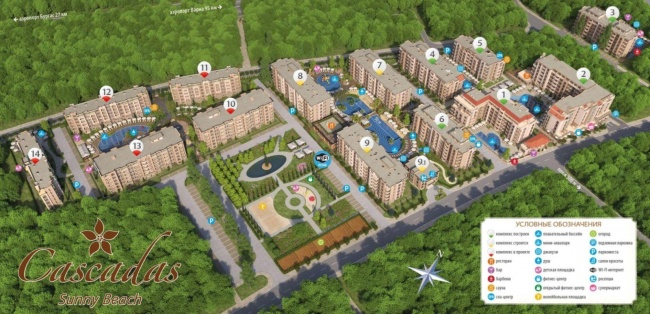 New built apartments in Sunny Beach