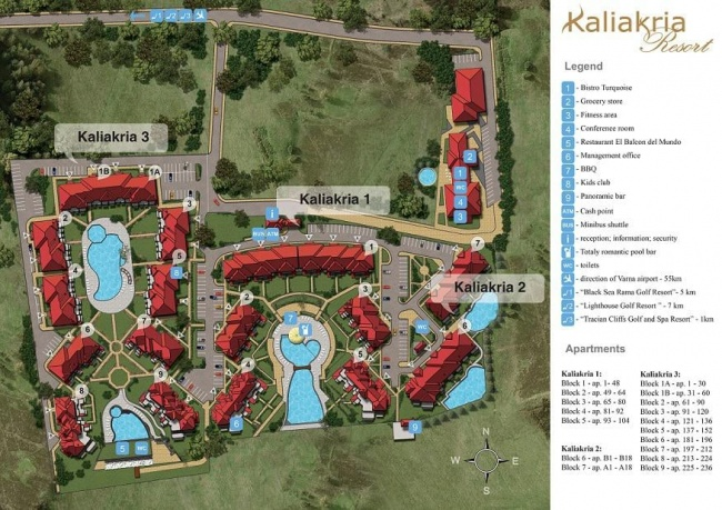 For sale exclusive 2 bedroom apartment in Kaliakria resort