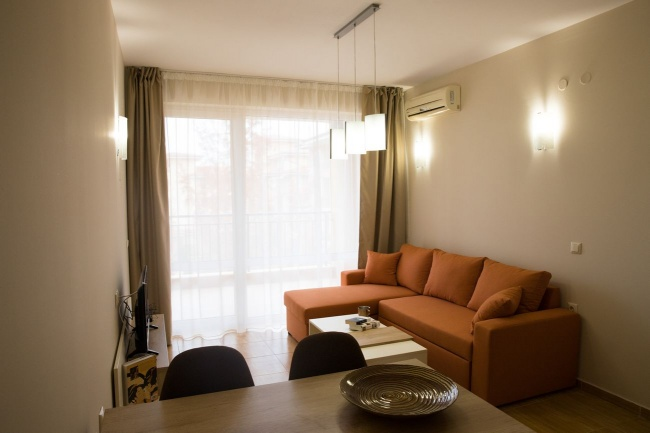 Furnished 2 bedroom apartment with kitchen near beach in St. Vlas