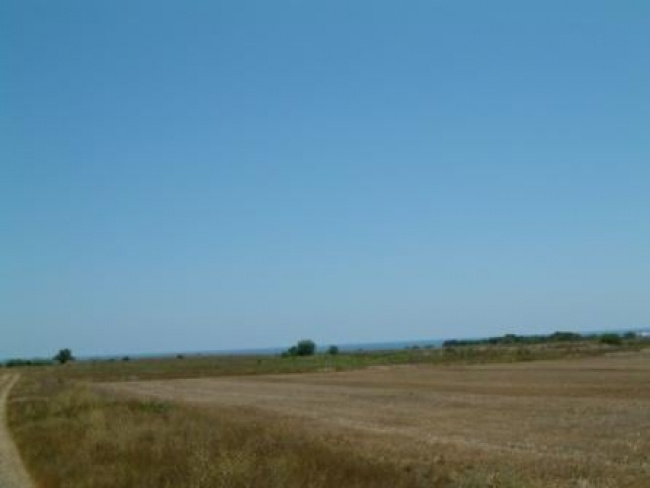Large building land on the Bulgarian sea coast