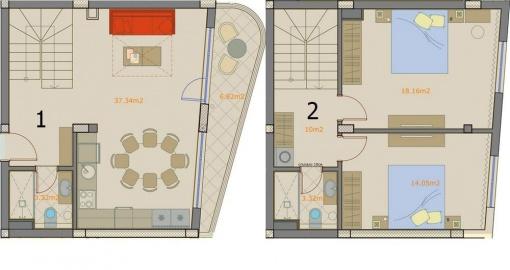 New build duplex for sale near beach